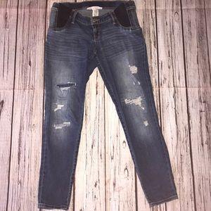 Liz Lange maternity skinny ankle jeans size S 🤰
